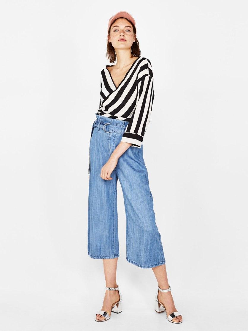 Jeans paper bag tencel con cintura di Berskha euro 9,90