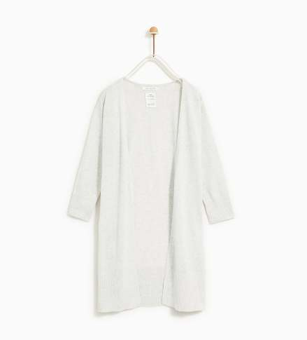 zara Long, open-front knit cardigan. 19,95 EUR