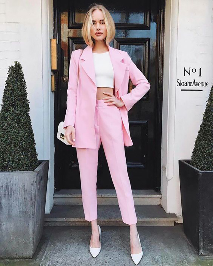 Tailleur rosa