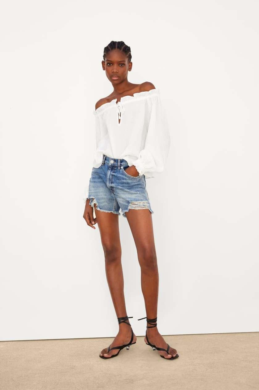 top in cotone di Zara